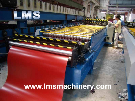Metal Corrugated Roof Tile Roll Forming Machine